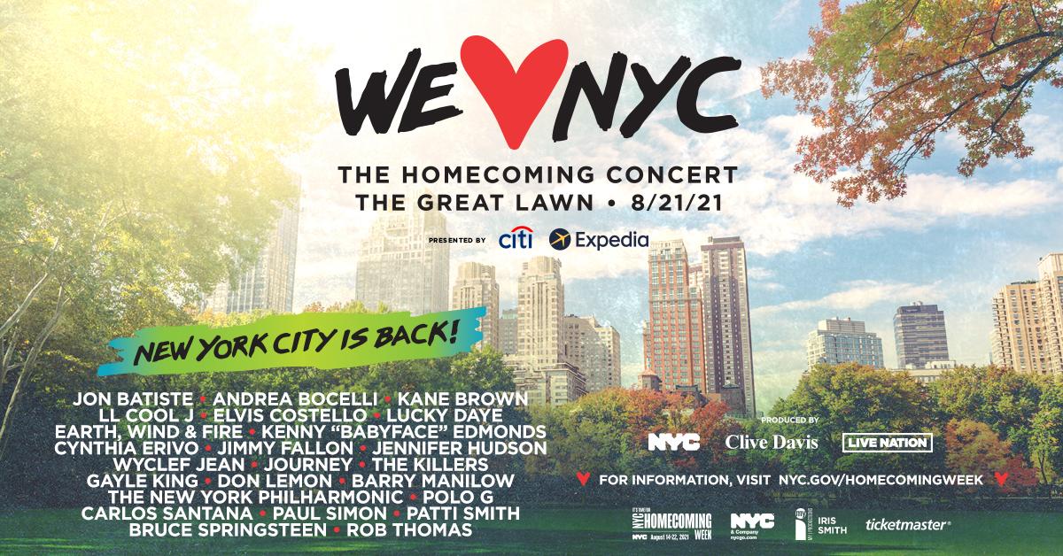 The Homecoming Concert Gewaltige Show Am Samstag Im Central Park Um Reopening Von New York Zu Feiern New York Aktuell